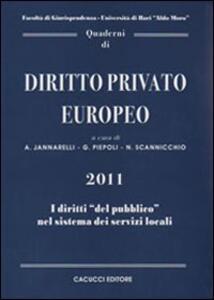 Quaderni di diritto privato europeo. Vol. 6