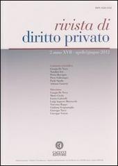 Rivista di diritto privato (2012). Vol. 2