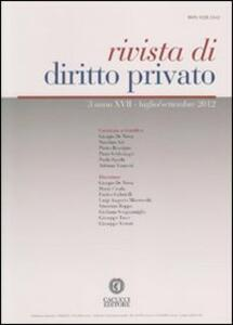 Rivista di diritto privato (2012). Vol. 3