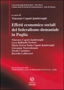 Effetti economico sociali del federalismo demaniale in Puglia