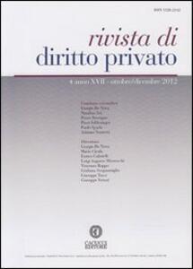 Rivista di diritto privato (2012). Vol. 4