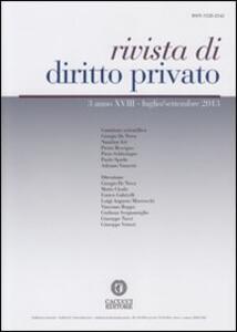 Rivista di diritto privato (2013). Vol. 3