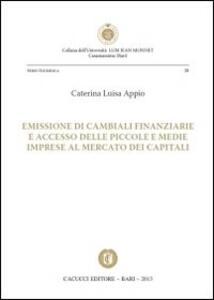 Emissione di cambiali finanziarie e accesso delle piccole e medie imprese al mercato dei capitali