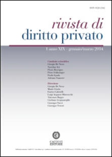 Festivalpatudocanario.es Rivista di diritto privato (2014). Vol. 1 Image
