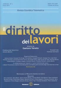 Il diritto dei lavori (2015). Vol. 1