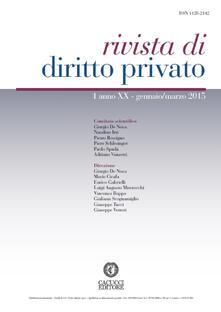 Amatigota.it Rivista di diritto privato (2015). Vol. 1 Image