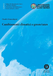 Cambiamenti climatici e green taxes