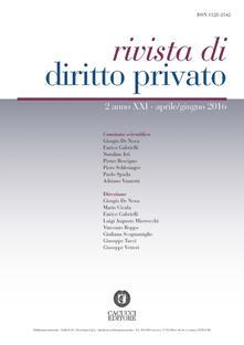 Listadelpopolo.it Rivista di diritto privato. Vol. 2 Image