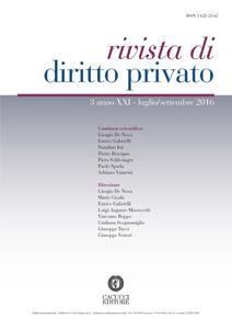 Rivista di diritto privato (2016). Vol. 3