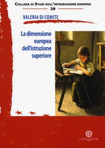La dimensione europea dell'istruzione superiore