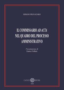 Il commissario «ad acta» nel quadro del processo amministrativo.pdf