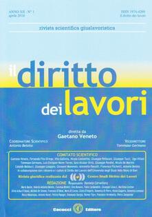 Listadelpopolo.it Il diritto dei lavori (2018). Vol. 1 Image
