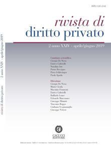 Voluntariadobaleares2014.es Rivista di diritto privato (2019). Vol. 2: Aprile-giugno. Image
