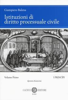 Filippodegasperi.it Istituzioni di diritto processuale civile. Vol. 1: I princìpi. Image