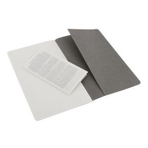 Cartoleria Quaderno Cahier Moleskine large a pagine bianche. Set da 2 Moleskine 3