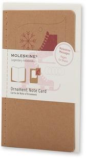 Ornament Note Card Ice Skates. Biglietti d'auguri