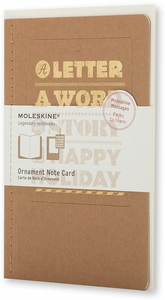 Cartoleria Ornament Note Card A Happy Holiday. Biglietti d'auguri Moleskine 0