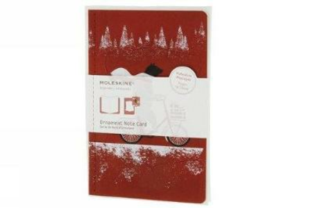 Cartoleria Ornament Note Card Cycling Bear. Biglietti d'auguri Moleskine 0