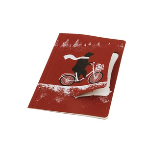 Cartoleria Ornament Note Card Cycling Bear. Biglietti d'auguri Moleskine 2