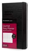 Cartoleria Agenda 2014 12 mesi Moleskine Passion Planner settimanale verticale Gourmet Moleskine