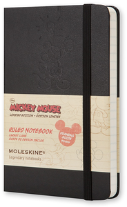 Cartoleria Taccuino Moleskine pocket a righe. Edizione Speciale Mickey Mouse copertina Moleskine 0