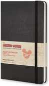 Cartoleria Taccuino Moleskine Mickey Mouse Limited Edition large a righe. Nero Moleskine