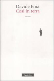 Così in terra - Davide Enia - copertina
