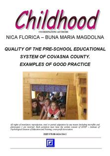 Quality of the pre-school educational system of Covasna County. Examples of good practice