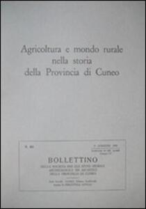 Agricoltura e mondo rurale nella storia della provincia di Cuneo