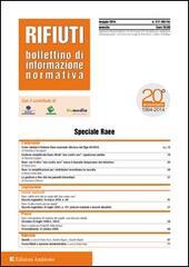 Rifiuti. Bollettino di informazione normativa. Maggio 2014. Vol. 127