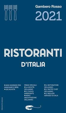 Ristoranti d'Italia del Gambero Rosso 2021 - copertina