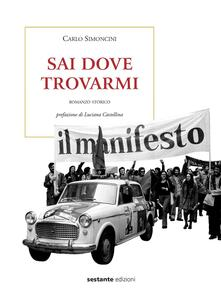 Sai dove trovarmi - Carlo Simoncini - copertina