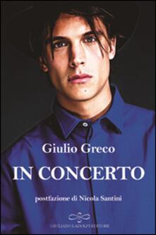 In concerto - Giulio Greco - copertina