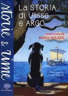 La storia di Ulisse e Argo - Mino Milani - copertina