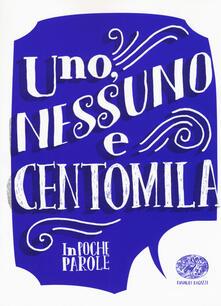 Uno, nessuno e centomila da Luigi Pirandello - Guido Sgardoli - copertina