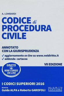 Codice di procedura civile. Annotato con la giurisprudenza. Con aggiornamento online - Antonio Lombardi - copertina