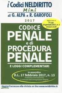 Codice penale e di procedura penale 2017