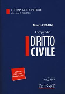 Compendio di diritto civile. Con Contenuto digitale per download e accesso on line - Marco Fratini - copertina