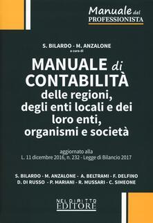 Camfeed.it Manuale di contabilità delle regioni, degli enti locali e dei loro enti, organismi e società Image