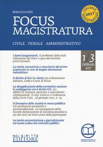 Focus magistratura. Concorso magistratura 2017: Civile, penale, amministrativo. Con aggiornamento online. Vol. 1