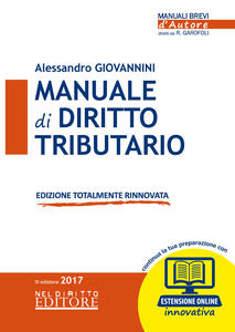 Manuale di diritto tributario. Con Contenuto digitale (fornito elettronicamente)