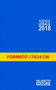 Agenda legale 2018. Blu. Ediz. maior