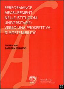 Performance measurement nelle istituzioni universitarie: verso una prospettiva di sostenibilità