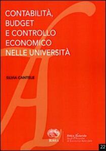 Contabilità budget e controllo economico nelle università