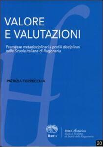 Valore e valutazioni. Premesse metadisciplinari e profili disciplinari nelle scuole italiane di ragioneria