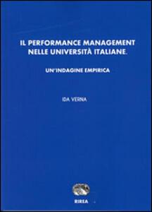 Il performance management nelle Università italiane. Un'indagine empirica