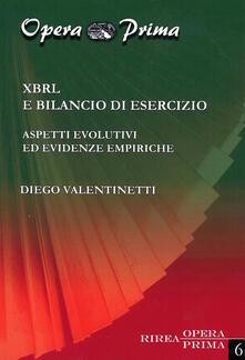 XBRL e bilancio di esercizio. Aspetti evolutivi ed evidenze empiriche - Diego Valentinetti - copertina