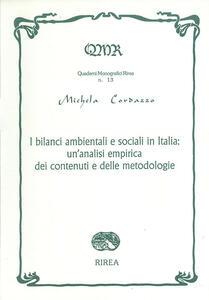 I bilanci ambientali e sociali in italia: un'analisi empirica dei contenuti e delle metodologie