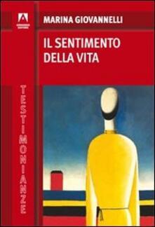 Il sentimento della vita - Marina Giovannelli - copertina
