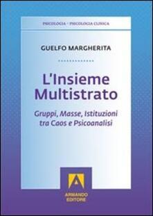 L' insieme multistrato. Gruppi, masse, istituzioni tra caos e psicoanalisi - Margherita Guelfo - copertina